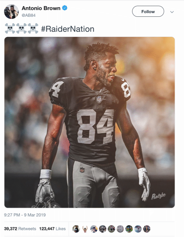 sale retailer 9b7b3 aee16 ANTONIO BROWN'S RAIDER IMAGE CREATED DAY IN ADVANCE - Sports ...