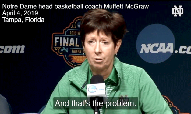 VIDEO: NOTRE DAME HOOPS COACH SHAKES DOWN THE THUNDER