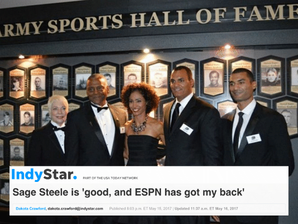 Father Gary and daughter Sage Steele: Pioneering African-Americans In Sports and Sports Media