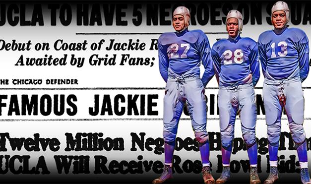 JACKIE ROBINSON WAS FOOTBALL HERO BEFORE BASEBALL STAR